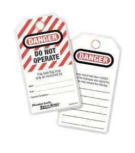"""DANGER – DO NOT OPERATE"" Lockout Tags"