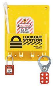 Compact Lockout Station including Padlock, Hasp and 2 Tags