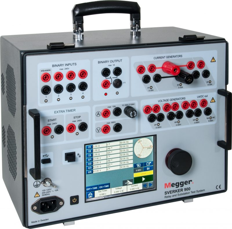 Megger (Programma) SVERKER 900 Relay and Substation Test System
