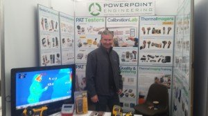 Des Cassidy representing Powerpoint Engineering at National Ploughing Championship 2014