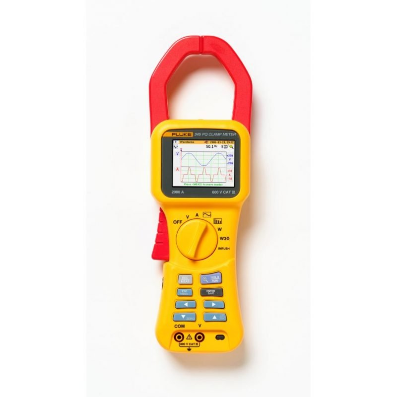 Power Quality Meter : Fluke power quality clamp meter