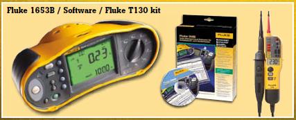 Fluke 1653 + Software + Fluke 150 TPOLE Tester