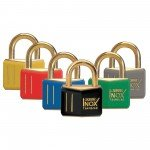 ABUS Brass Padlocks with Coloured Veneer Sheaths