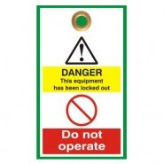 Lockout Safety Disposable Lockout Tags
