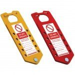 Lockout Safety Labeled 'Do Not Operate' Coloured Lockout Hasp,10 Holes