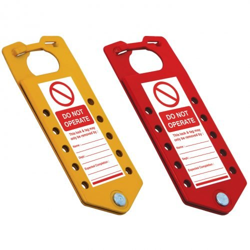 Lockout Safety Labeled Lockout Hasp