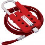 Lockout Safety Multipurpose Cable Lockout Hasp (With 2 mtrs of Cable)