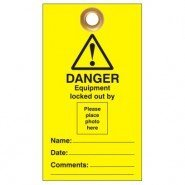 Lockout Safety Photo Id Lockout Tags  – 'Do Not Operate' Or Similar