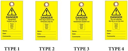 Lockout Safety Photo Id Lockout Tags - 'Do Not Operate' Or Similar