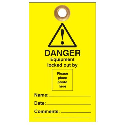 Lockout Safety Photo ID Lockout Tags|Lockout Safety Photo ID Lockout Tags - 'Do Not Operate' Or Similar|Lockout Safety Photo ID Lockout Tags - 'Do Not Operate' Or Similar