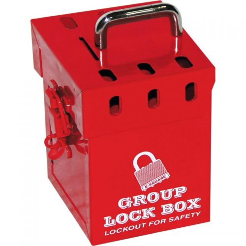 Lockout Safety Portable Red Group Lockout Box (7 locks)