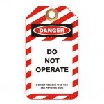 Lockout Safety Standard Lockout Tags