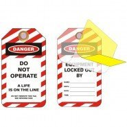 Lockout Safety Standard Lockout Tags With Protective Liner
