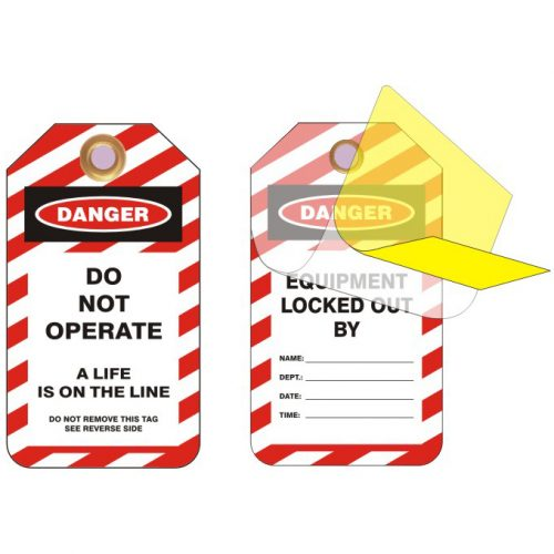 Lockout Safety Standard Lockout Tags With Protective Liner|Lockout Safety Standard Lockout Tags With Protective Liner|Lockout Safety Standard Lockout Tags With Protective Liner