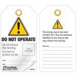 Master Lock Photo Id Lockout Tags  - 'Do Not Operate' Or Similar