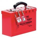 Master Lock Portable Red Group Lockout Box (12 locks)