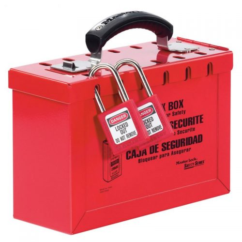 Master Lock Portable Red Group Lockout Box (12 Locks)