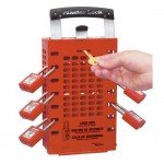 Master Lock Portable / Wall Red Group Lock Box (14 locks)