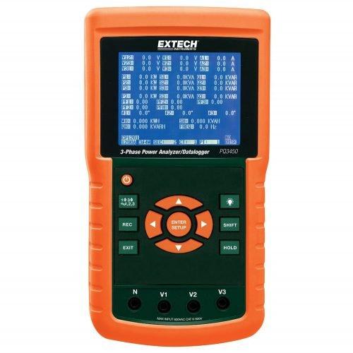 Extech PQ3450 3-Phase Power Analyzer Datalogger