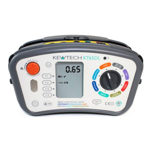 Kewtech KT65DL - Digital 8-in-1 Multifunction Tester - KT65DL