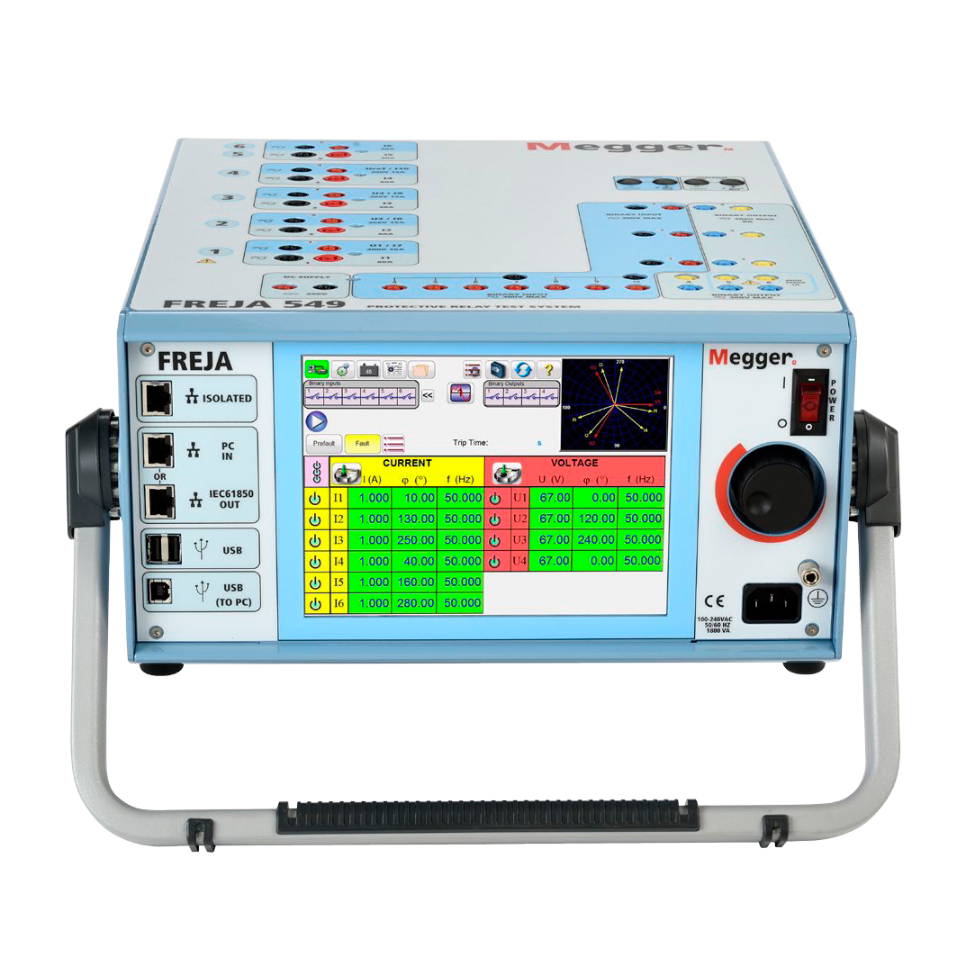 Protection Relay Test Kits Substation Testing Equipment In Ireland Solid State Megger Programma Freja 549 Set