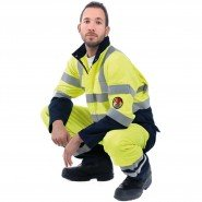 Roots Xtreme Hi-Vis 'Knee Pockets' Coverall &#8211; Class 1, 9.6 cal/cm<sup>2</sup>