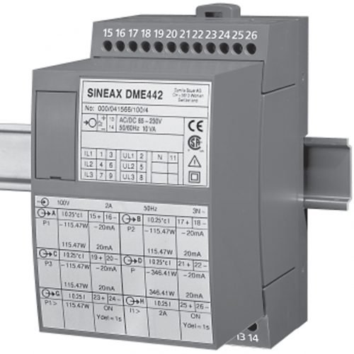 Sineax DME 424 442 3-Phase Transducer (Programmable)