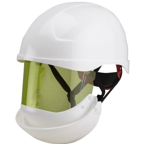Substation Safety Class 2 Arc Flash Helmet & Retractable Integrated Visor