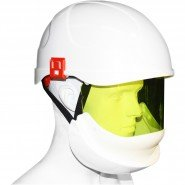 ELECTRICALLY INSULATED SAFETY HELMET (SECRA) WITH INTEGRATED ARC FLASH FACE SHIELD &#8211; Class 2, 24.0 CAL/cm<sup>2</sup>