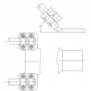SIMAFLEX  45° angle Fork-Flat Clamp
