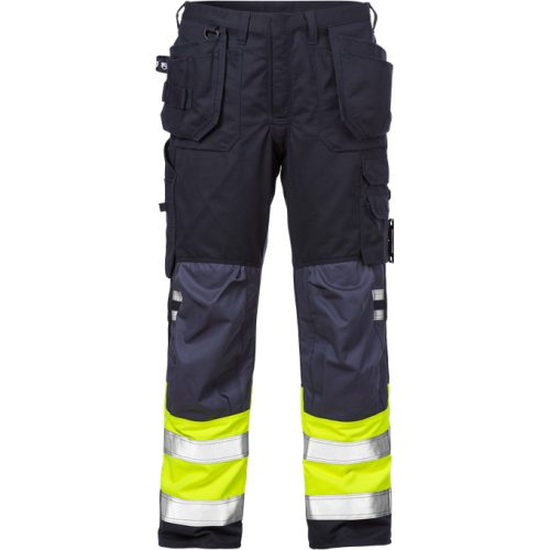 FRISTADS Trousers 2074 ATHS Hi-Vis Yellow/Navy - Class 1