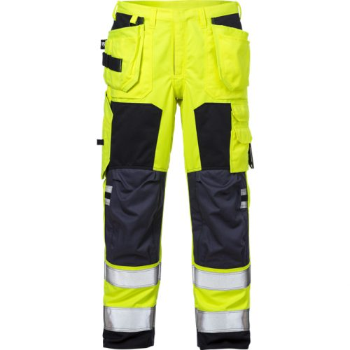 FRISTADS Trousers 2075 ATHS Hi-Vis Yellow/Navy - Class 1