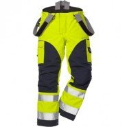 FRISTADS GORE-TEX Trousers 2089 GXH Hi-Vis Yellow/Navy &#8211; Class 2, 29.6 cal/cm<sup>2</sup>