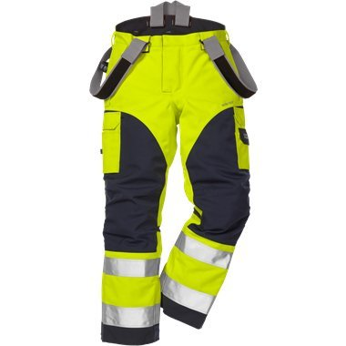 FRISTADS GORE-TEX Trousers 2089 GXH Hi-Vis Yellow/Navy - Class 2
