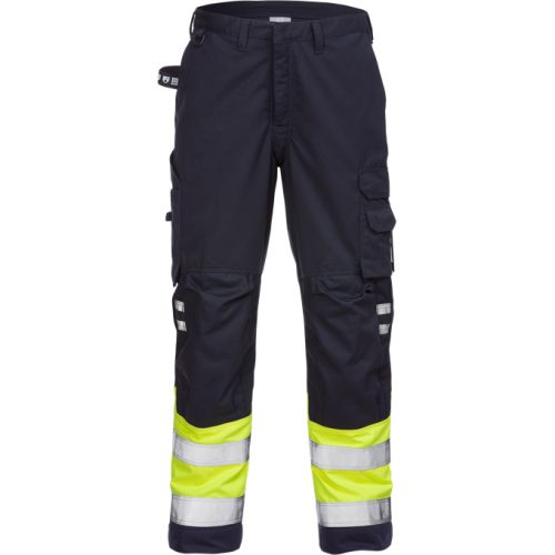 FRISTADS Trousers 2176 ATHS Hi-Vis Yellow/Navy - Class 1