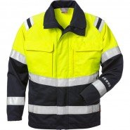 FRISTADS Jacket 4176 ATHS Hi-Vis Yellow/Navy &#8211; Class 1, 10.5 cal/cm<sup>2</sup>