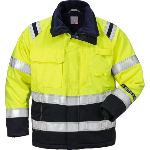 FRISTADS Winter Jacket 4185 ATHS Hi-Vis Yellow/Navy - Class 2