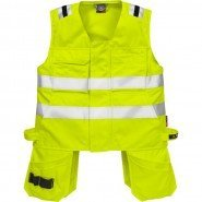 FRISTADS Waistcoat 5075 ATHS Hi-Vis Yellow &#8211; Class 1, 10.5 cal/cm<sup>2</sup>