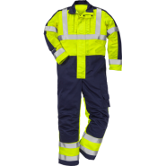 FRISTADS COVERALL FLAME HI-VIS CL 3 8626 FBPA – Yellow/Navy, Class 1, 13 cal/cm²