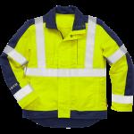 FRISTADS Flame Hi-vis jacket cl 3 4846 Yellow/Navy – Class 1, 13 cal/cm²
