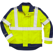 FRISTADS Flame Hi-vis jacket cl 3 4846 Yellow/Navy – Class 1, 13 cal/cm²