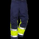 FRISTADS Flame Trousers Hi-Vis cl 1 2051 FBPA Yellow/Navy – Class 1, 13 cal/cm²