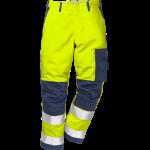 FRISTADS Flame Trousers Hi-Vis cl 2 2042 FBPA Yellow/Navy – Class 1, 13 cal/cm²