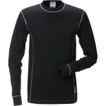 FRISTADS T-Shirt Flamestat long sleeve 7026 Black - Class 1