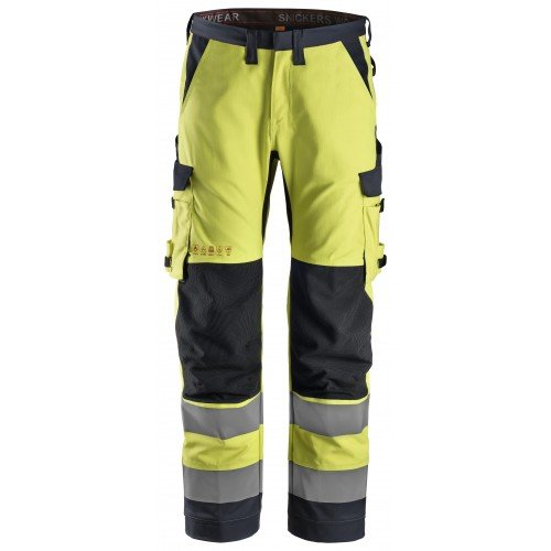 Snickers Workwear ProtecWork Work Trousers Equal Leg Trousers, High-Vis Class 2