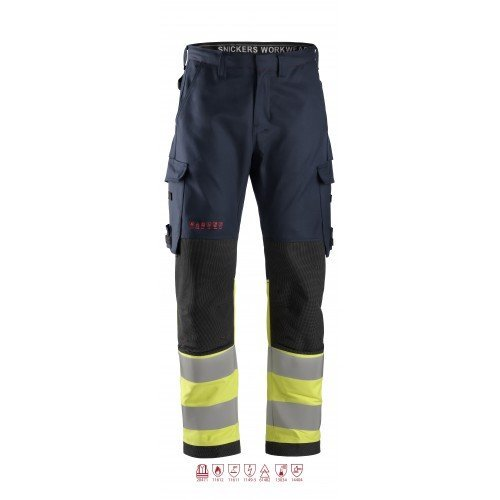 Snickers Workwear ProtecWork Trousers, High-Vis Class 1