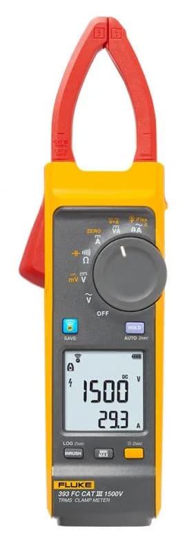 Fluke 393 FC CAT III / 1500 V TRMS Clamp Meter